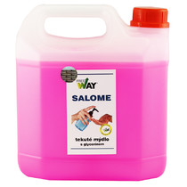 Tekuté mýdlo SALOME na ruce s glycerínem - růžové 3 l